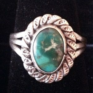 Native American Turquoise + Sterling Silver Ring 6